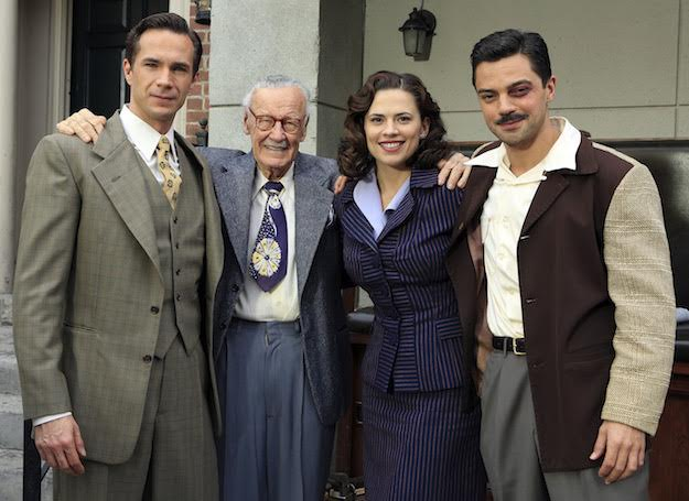 "MARVEL'S AGENT CARTER - ""The Blitzkrieg Button"" (ABC/Matt Kennedy) JAMES D'ARCY, STAN LEE, HAYLEY ATWELL, DOMINIC COOPER"